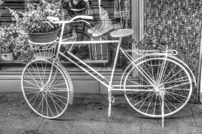Isolated On Black Background Digital Art - The Bicycle by Eti Reid