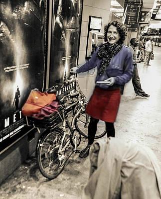 The Bicycle Girl Art Print