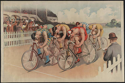 Bicycle Race Photograph - The Bicycle Race 1895 by Bill Cannon