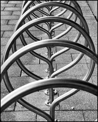 The Bicycle Rack Art Print by Geraldine Alexander