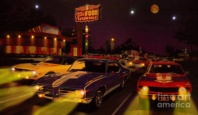 The Big 3 Street Racing Art Print by Al Bourassa