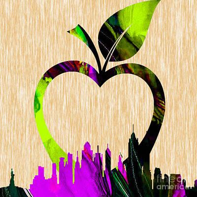 Mixed Media - The Big Apple New York Skyline by Marvin Blaine