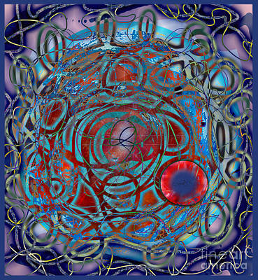 Digital Art - The Big Bang Grape Theory by Gabrielle Schertz