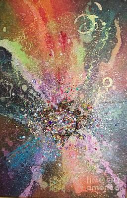 Bling Mixed Media - The Big Bling Theory by Carol Losinski Naylor