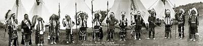 Western Art Digital Art - The Big Chiefs by Unknown
