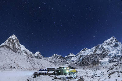 The Big Dipper Rise Above The Himalayas Art Print by Jeff Dai
