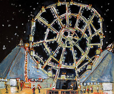 Metaphor Painting - The Big Ferris Wheel Of Life No.3 by Charlie Spear