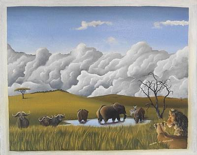 Painting - The Big Four by Hilton Mwakima