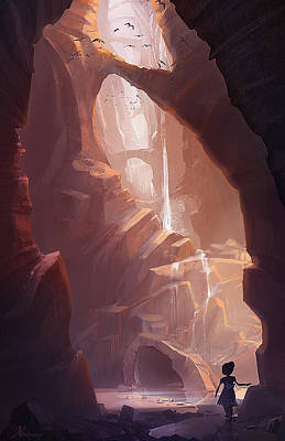 Caves Painting - The Big Friendly Giant by Kristina Vardazaryan
