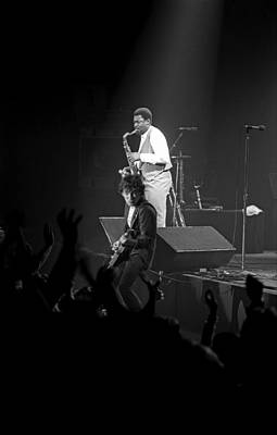 Bruce Springsteen Photograph - The Big Man And The Boss by Mike Norton