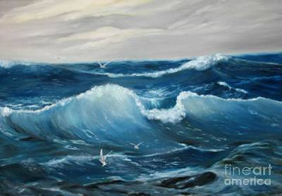 Painting - The Big Ocean by Patricia Lang