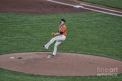Tim Lincecum Photograph - The Big Pitcher by Judy Wolinsky