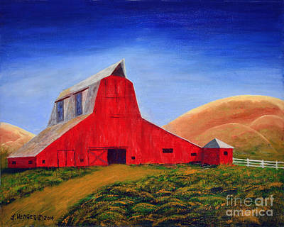The Big Red Barn Art Print