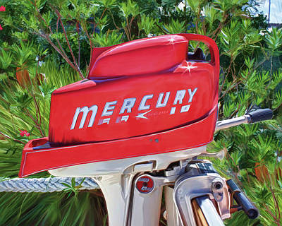 The Big Red Mercury Engine Art Print