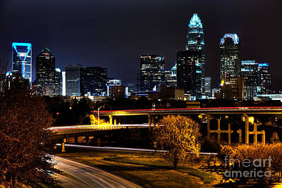 The Big Sexy Skyline Of Charlotte Original by Robert Loe