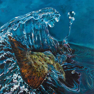 Painting - The Big Splash by Les Herman