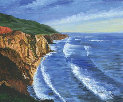 The Big Sur Art Print by Harold Shull