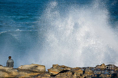 Maroubra Photograph - The Big Wave by David Hill