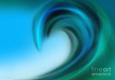 Digital Art - The Big Wave Of Hawaii 4 by Andee Design