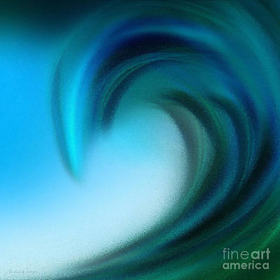 Digital Art - The Big Wave Of Hawaii 5 by Andee Design