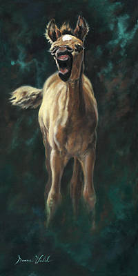 Yawning Painting - The Big Yawn by Donna  Hillman Walsh