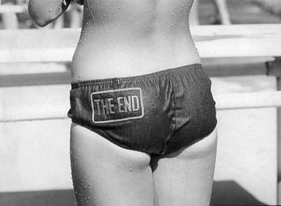 Bathing Photograph - The Bikini End by Underwood Archives