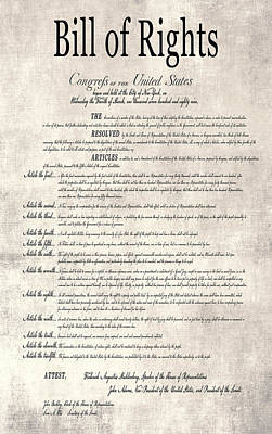 The Bill Of Rights Parchment Print by Daniel Hagerman