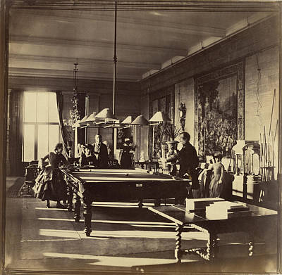 Billiard Drawing - The Billiard Room, Mentmore House Roger Fenton by Litz Collection