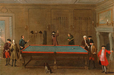 Cue Painting - The Billiard Room, Unknown Artist, 18th Century by Litz Collection