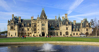 The Houses Digital Art - The Biltmore Estate - Asheville North Carolina by Mike McGlothlen