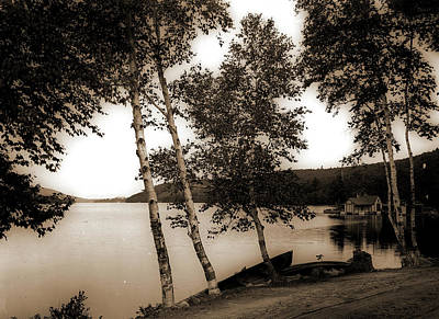 The Birches At Oak Birch Inn, Alton Bay, Lake Winnipesaukee Art Print