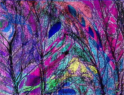 Digital Art - The Birches by Expressionistart studio Priscilla Batzell