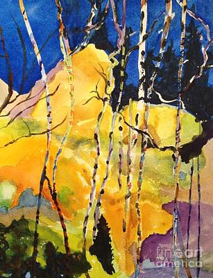 Painting - The Birches by Joanne Killian
