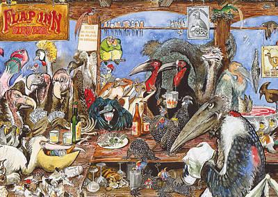 Dodo Bird Painting - The Bird Bar by Rose Rigden