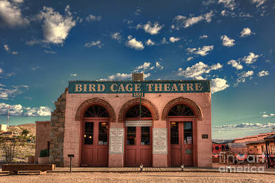 Photograph - The Bird Cage Theatre by Eddie Yerkish
