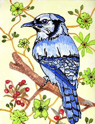 Painting - The Bird In My Yard by Connie Valasco