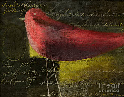 Painting - The Bird - J100124164-c11c by Variance Collections