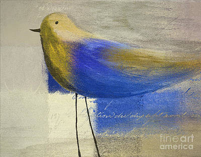 Aimelle Painting - The Bird - J100124164-c21 by Variance Collections
