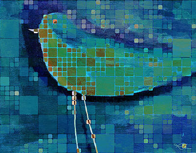 Abstract Realism Painting - The Bird - Mdsa03bll by Variance Collections