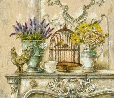 The Birdcage Art Print by Elizabeth Coats