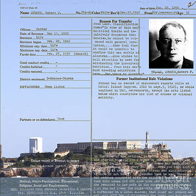 Alcatraz Photograph - The Birdman Of Alcatraz San Francisco 20130323v2 Square by Wingsdomain Art and Photography
