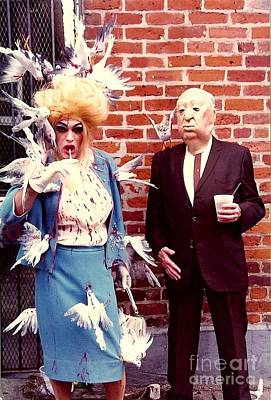 New Orleans The Birds And Alfred Hitchcock Mardi Gras Day In The French Quarter In Louisiana Art Print by Michael Hoard