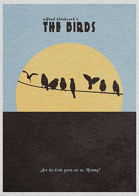 1963 Movies Digital Art - The Birds by Ayse Deniz