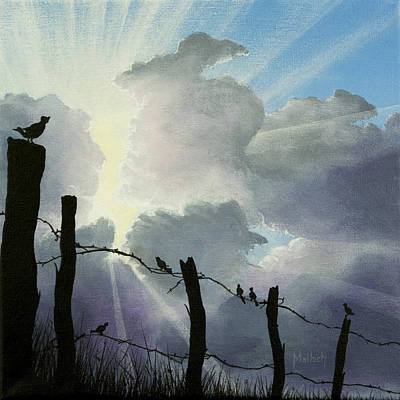 Painting - The Birds - Make A Joyful Noise by Jack Malloch