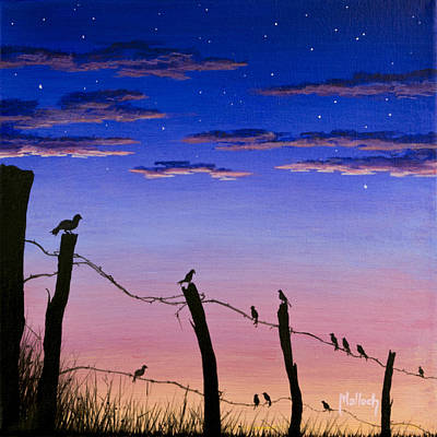 Painting - The Birds - Morning Has Broken by Jack Malloch