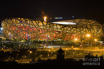 The Birds Nest Stadium China Art Print
