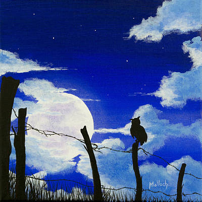 Painting - The Birds - Night Watch by Jack Malloch