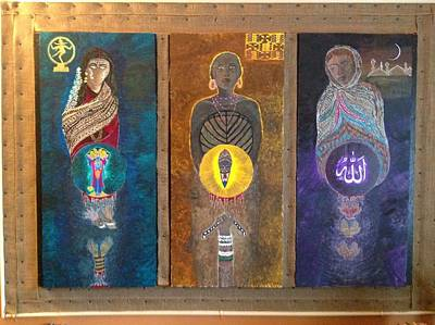 Oppression Mixed Media - The Birth And Death Of Patriarchy by Kamakshi Murti