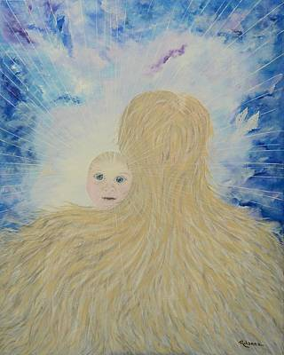 Painting - The Birth Of New Universal Love Named Tao  by Judy M Watts-Rohanna