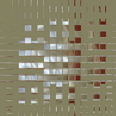 Brown Tones Digital Art - The Birth Of Squares No 1 by Ben and Raisa Gertsberg